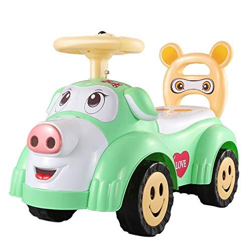 Voiture pour Enfants Twist avec Musique Slide Yo Car Baby Voiture à Quatre Roues pour Tout-Petits 1-3 Ans Baby Toy Poussette FANJIANI (Couleur : Vert)
