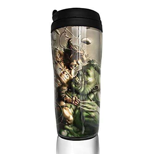 Hulk - Taza de café con aislamiento térmico duradero y protección del medio ambiente con funda reutilizable de doble capa antiquemaduras, funda multiusos portátil, base antideslizante