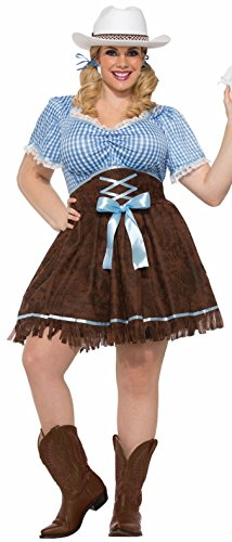 Forum Novelties womens Plus-size Cowgirl Adult Sized Costume, Multi/Color, Plus