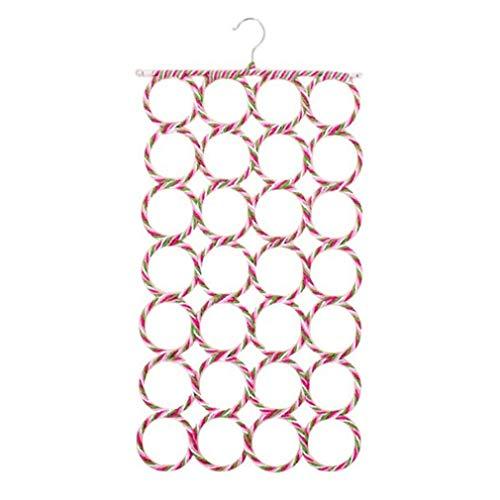 Prinbong 28 Löcher Krawattenhalter Faltbarer Multifunktions-Schalhalter Papier-Rattan-Kleiderbügel