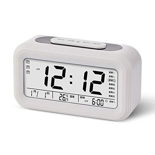Reloj Digital Wake Up Light,XXL Reloj Despertador Digital De Viaje,Para Niños Temperatura De La Habitación Pantalla Electrónica De La Hora