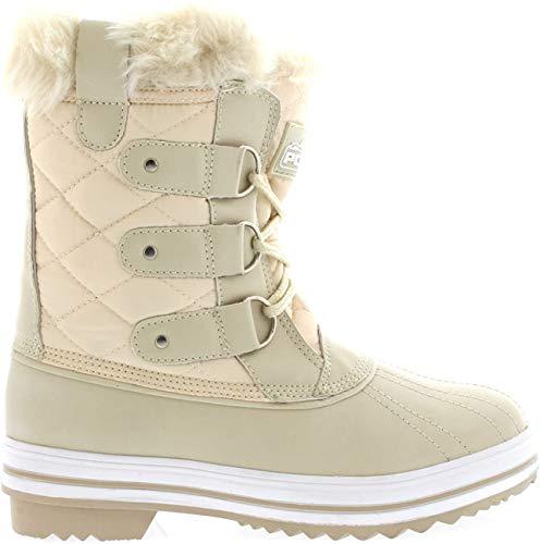 Polar Womens Snow Boot Quilted Short Winter Snow Rain Warm Waterproof Boots - 10 - BEN43 YC0014