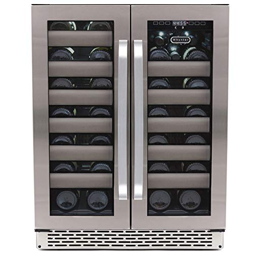 Whynter BWR-401DS 40 Bottle Stainless Steel Dual Zone Built Wine Refrigerators-Elite Series with Seamless Doors