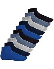 Footstar Heren & dames korte schacht sokken (10 paar), Quarter sokken van katoen - Sneak It!