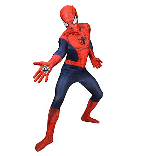 "Morphsuits 'Spider-Man' - Disfaz Oficial, color Azul/ Rojo, talla L/5'4""-5'10"" (161 - 177 cm) , color/modelo surtido"