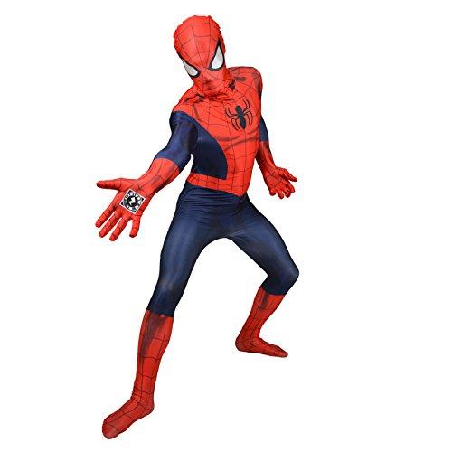 Morphsuits Erwachsene Offizielles Marvel Ganzkörperanzug Luxus Spiderman Kostüm - Größe L (163cm-175cm)