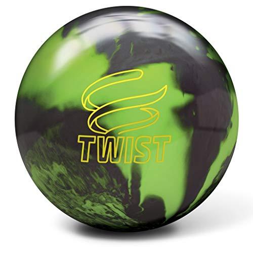 Brunswick Twist Reactive Bowlingball, Grün/Schwarz, Unisex-Erwachsene, Brunswick Twist Reactive Bowling Ball- Green/Black 15lbs, grün/schwarz, 15