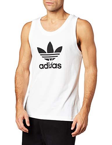 adidas Trefoil Tank Camiseta sin Mangas, Hombre, White, L