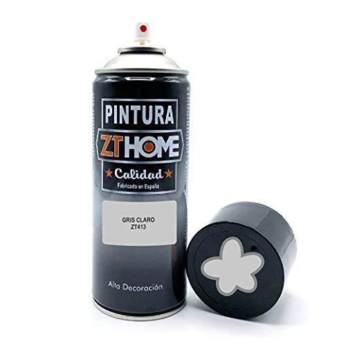 Bombe Peinture Gris Clair 400ml   Peinture aérosols   Bombe Spray Métal/Peinture Spray pour bois, métal, céramique, plastique/Peinture pour radiateur, velo, voiture, carrosserie, graffiti