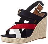Tommy Hilfiger Basic Hardware High Wedge Sandal, Sandalias con Punta Abierta para Mujer, Rojo (RWB 0kp), 39 EU
