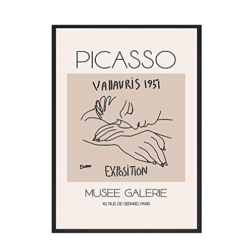 Carteles e impresiones retro de Matisse abstractos plantas de pintura de arte de pared para pinturas de lienzo sin marco para el hogar moderno A6 30x45cm