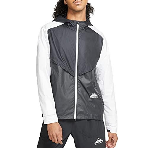 NIKE M NK SF Trail Windrunner JKT Jacket, Black/dk Smoke Grey/White/White, XL Mens