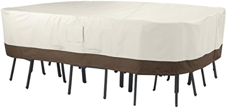 AmazonBasics Abdeckung für rechteckigen   ovalen Gartentisch mit Stühlen, Gr. XL