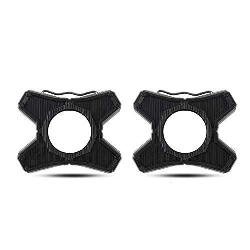 ABS Aleación Pedales de par Pedales Soporte Plano Convertidor para SpeedPlay Cero Pedales Adaptador Ciclismo Carretera Piezas de Pedal Piezas (Color : Black)