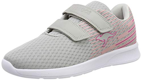KangaROOS Unisex-Kinder KF Act V Sneaker, Grau (Vapor Grey/Daisy Pink 2050), 38 EU