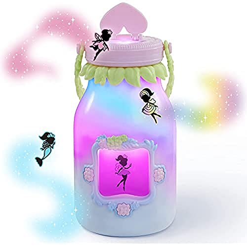 WowWee Got2Glow Fairy Finder - Electronic Fairy Jar Catches Virtual Fairies - Got to Glow (Pink)