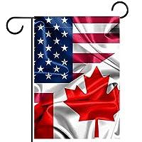 ガーデンフラッグ両面印刷防水カナダの米国の国旗 庭、庭の屋外装飾用