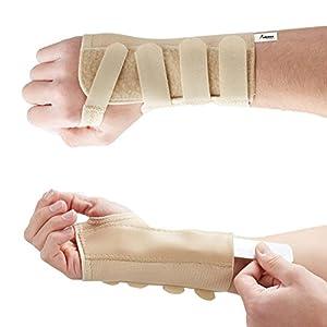 Actesso Tri-Weave Handgelenkschiene - Lindert Symptome bei Karpaltunnelsyndrom, Frakturen, Verstauchungen, Sehnenscheidenentzündung und Gelenkschmerzen. Ideal für Männer und Frauen (M, Rechts)