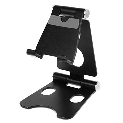 UKKD Tablet Stand Aluminium Alloy Dual Foldable Desktop Rotary Tablet Stand Mobile Phone Holder Mount Bracket For Iphone For Ipad