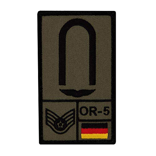 Café Viereck ® Unteroffizier Luftwaffe Bundeswehr Patch - Gestickt mit Klett – 9,8 cm x 5,6 cm (Oliv)
