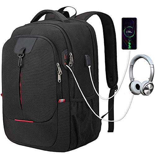 Laptop Backpack, College School Backpacks for for Men Womens Boys Girls with USB Charging Port, Water Resistant Anti Theft Stylish Travel Business Bag Daypack for 17.3 inch laptop