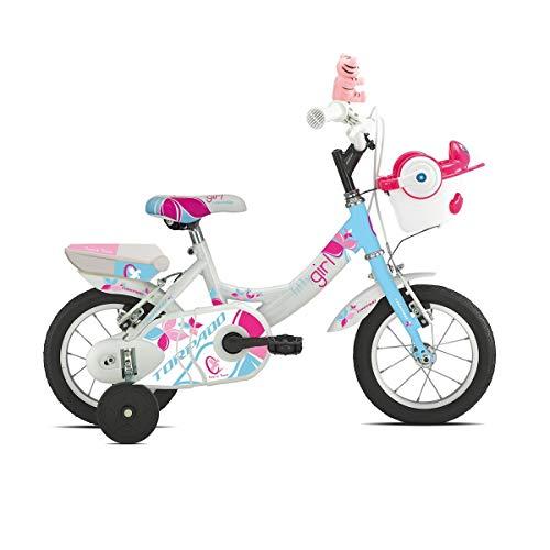 TORPADO Bici Junior T691 Titty 12'' Bimba 1v Bianco/Azzurro (Bambino)