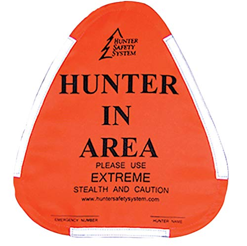 Hunter Safety System Hunter Warning Sign, Orange