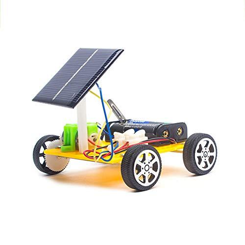 Zonne/Accu Dubbele Kracht Auto, STEM Leren Speelgoed - DIY Educatief Wetenschappelijk Experiment Speelgoedkit, 5 Jaar En Ouder Kinderen Nieuwigheid Creativiteit Auto's Geschenk