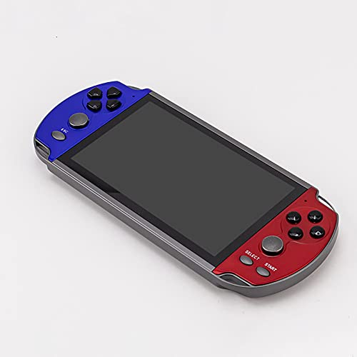 Consola Juegos Portátil, Máquina Juego Arcade Retro Pantalla Mate Alta Definición 6,5 Pulgadas Serie GBA/GB/GBC/MD/SFC Descarga El Juego Gratis Conectable TV Interacción Familiar ( Color : Blue )