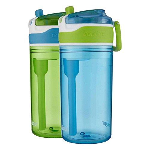 Contigo Water Bottles 2 In 1 Blue/Green