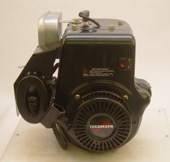 "Tecumseh 10hp Horizontal 4-11/32"" Tapered Shaft, Muffler, Los, Recoil Start, fits Most Devilbiss Generators Engine"