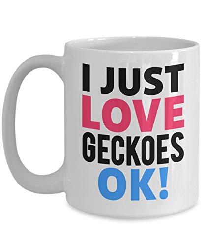 N\A Ich Liebe Geckoes Kaffeetasse für Gecko-Liebhaber Gecko-Besitzer