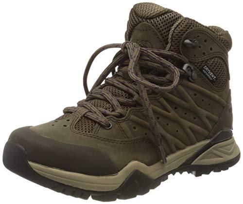 The North Face Womens Hedgehog Hike II Mid WP, Walking Shoe, BIPARTISAN Brown