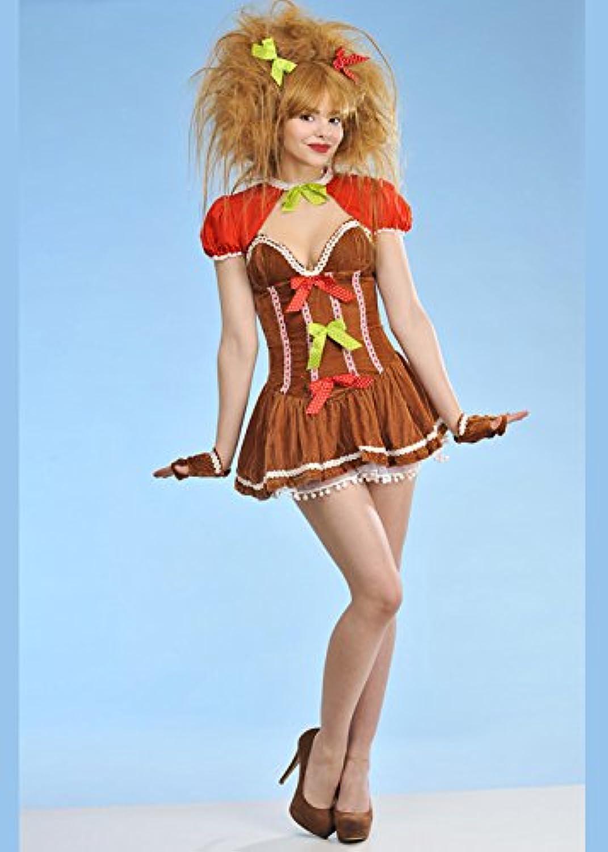 8in1 Erwachsener Frauen Weihnachten Lebkuchen Mädchen Kostüm XS (UK6-8) B07636L631 Adoptieren | Mittlere Kosten