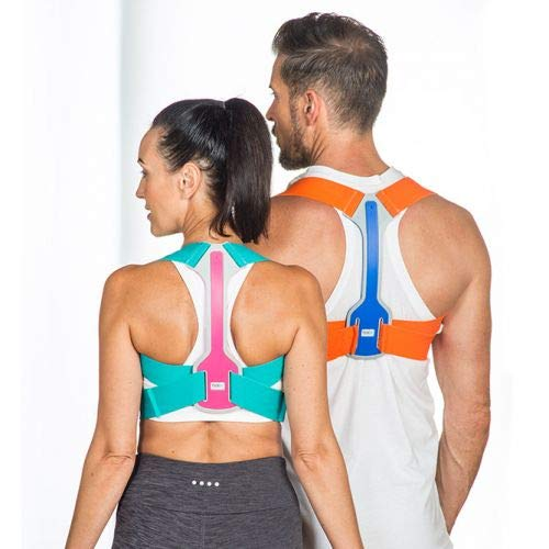 BackPainHelp Posture Hero Sports for Men & Women - Award Winning Posture Support (Pink/Turquoise, Small/Medium)