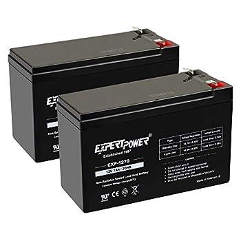 ExpertPower Standard 12V 7AH Rechargeable SLA Battery  EXP1270-2  - 2 Pack