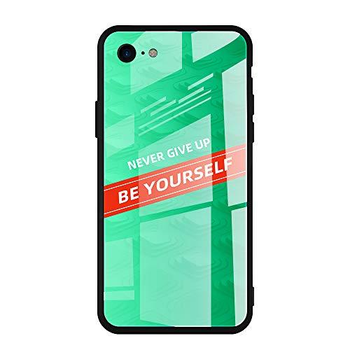 Carcasa de cristal compatible con iPhone 6 Plus/6S Plus, ultrafina, una parte trasera de vidrio templado 9H de silicona suave marco de TPU multicolor 03 iphone 6 Plus/6S Plus