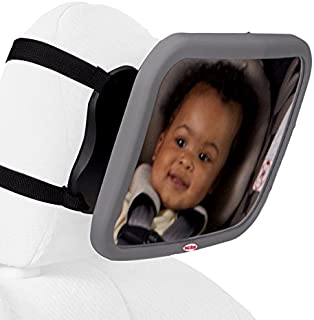 Nuby Back Seat Baby View Mirror, Gray