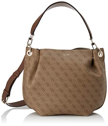 Guess Digital Hobo, Handbag Donna, Marrone, UNI