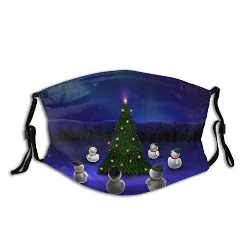 Christmas Tree Snowmen Stars Face Mask Dustproof Breathable Protective Scarf Reusable Adjustable Washable Fashion Bandana Made In USA