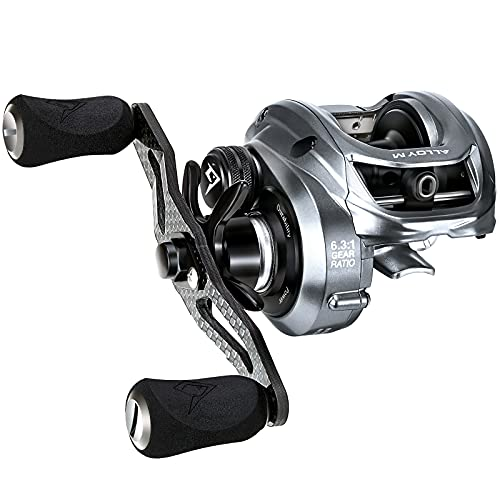 Piscifun Alloy M Baitcasting Reels - Aluminum Frame Baitcaster, Low Profile Baitcast Fishing Reels 22Lbs Max Drag, 6.3:1 Gear Ratio Freshwater Saltwater Casting Reels (Right Handed)