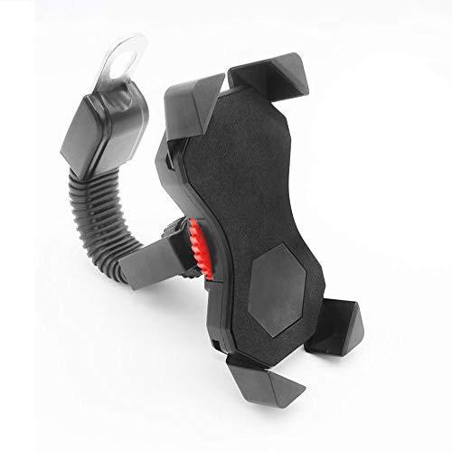 Porta Cellulare Scooter,FEYG Supporto Cellulare Per Moto Ruotabile a 360°Supporto Universale Smartphone Per Scooter Iphone,Per Dispositivi da 3.5-6.5 Pollici (Nero)
