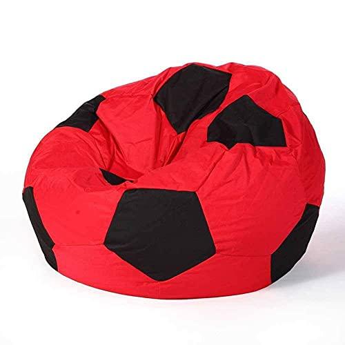 Xin Hai Yuan Bean Bag Funda para Sofá para Silla (Sin Relleno), Tumbona Perezosa con Respaldo Alto, Grande, Grande, para Almacenamiento, para Silla, para Adultos Y Niños 50CM,Rojo