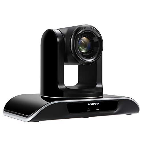 Tenveo Konferenzkamera 10x Optischer Zoom 1080p Full-HD, Weitwinkel USB PTZ Webcam mit Fernbedienung, für YouTube/Twitch/OBS Live Streaming, Skype/Zoom Videokonferenzen (TEVO-VHD102U)