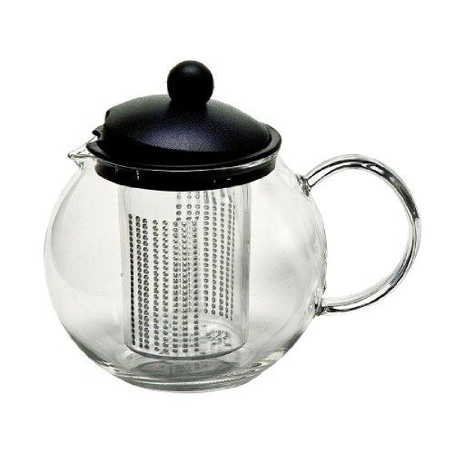 Rastal Teekanne Basic mit Sieb transparent Borosilikatglas mit Teesieb/spülmaschinengeeignet Basic