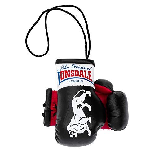 Lonsdale London MINI BOXING GLOVES Men mini boxing gloves hanging decoration Souvenir Black, tamaño:OneSize