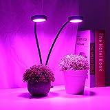 frenma 5 Modos de iluminación Luz LED de Planta de Doble Cabezal, Clip de Cultivo FX-009G-2 Luz LED de Planta de 18 W, para Acuario