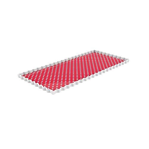 Zak Dotty Cake Platte rechteckig 35 x 16,5 cm rot