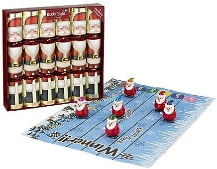 Racing Santa Family Fun Christmas Crackers - Pack of 6 Lakeland Exclusive
