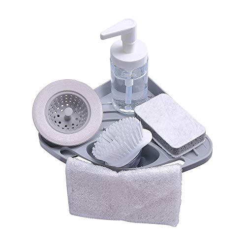 Product Image of the Kitchen sink caddy sponge holder scratcher holder cleaning brush holder sink organizer(Grey)